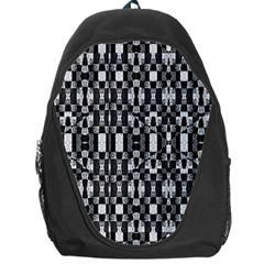 Black And White Geometric Tribal Pattern Backpack Bag by dflcprints