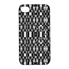 Black And White Geometric Tribal Pattern Apple Iphone 4/4s Hardshell Case With Stand by dflcprints
