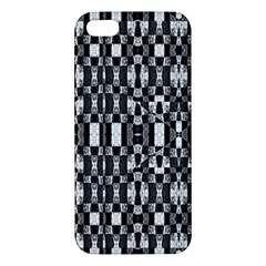 Black And White Geometric Tribal Pattern Apple Iphone 5 Premium Hardshell Case by dflcprints
