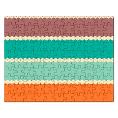 Rhombus And Retro Colors Stripes Pattern Jigsaw Puzzle (rectangular) by LalyLauraFLM