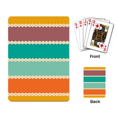 Rhombus And Retro Colors Stripes Pattern Playing Cards Single Design by LalyLauraFLM