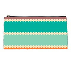 Rhombus And Retro Colors Stripes Pattern Pencil Case by LalyLauraFLM