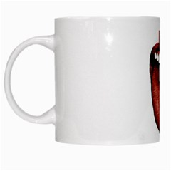 Tongue Cut By Kitchen Knife Photo Collage White Mugs by dflcprints