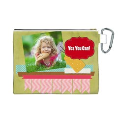 Kids By Kids   Canvas Cosmetic Bag (large)   2niz8nq0c617   Www Artscow Com Back