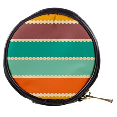 Rhombus And Retro Colors Stripes Pattern Mini Makeup Bag
