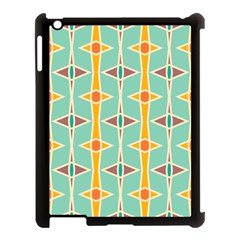 Rhombus Pattern In Retro Colors 			apple Ipad 3/4 Case (black) by LalyLauraFLM
