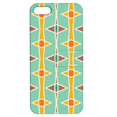 Rhombus Pattern In Retro Colors apple Iphone 5 Hardshell Case With Stand by LalyLauraFLM