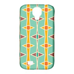 Rhombus Pattern In Retro Colors 			samsung Galaxy S4 Classic Hardshell Case (pc+silicone) by LalyLauraFLM