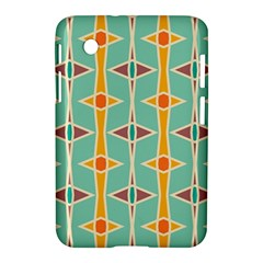 Rhombus Pattern In Retro Colors 			samsung Galaxy Tab 2 (7 ) P3100 Hardshell Case by LalyLauraFLM