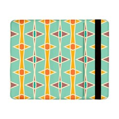 Rhombus Pattern In Retro Colors 			samsung Galaxy Tab Pro 8 4  Flip Case by LalyLauraFLM