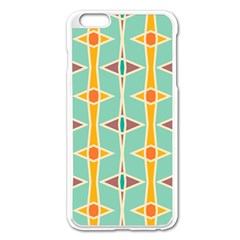 Rhombus Pattern In Retro Colors 			apple Iphone 6 Plus/6s Plus Enamel White Case by LalyLauraFLM