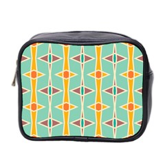Rhombus Pattern In Retro Colors  Mini Toiletries Bag (two Sides) by LalyLauraFLM