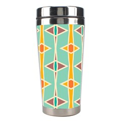 Rhombus Pattern In Retro Colors  Stainless Steel Travel Tumbler by LalyLauraFLM