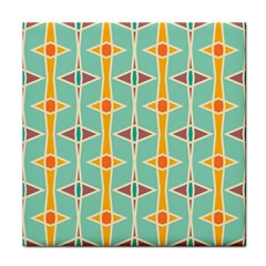 Rhombus Pattern In Retro Colors tile Coaster by LalyLauraFLM