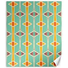 Rhombus Pattern In Retro Colors 			canvas 20  X 24  by LalyLauraFLM