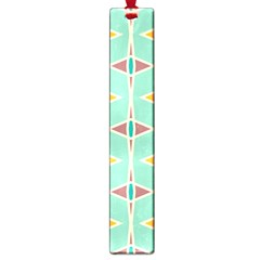 Rhombus Pattern In Retro Colors 			large Book Mark by LalyLauraFLM