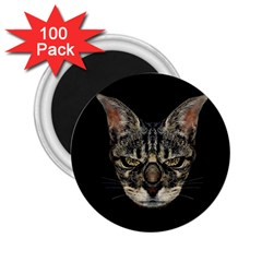 Angry Cyborg Cat 2 25  Magnets (100 Pack)  by dflcprints