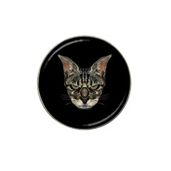 Angry Cyborg Cat Hat Clip Ball Marker (10 Pack) by dflcprints