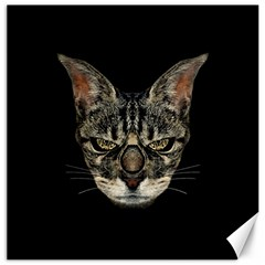 Angry Cyborg Cat Canvas 16  X 16   by dflcprints
