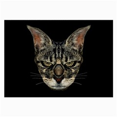 Angry Cyborg Cat Large Glasses Cloth by dflcprints