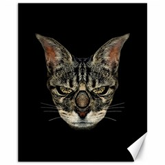 Angry Cyborg Cat Canvas 11  x 14   by dflcprints