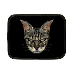 Angry Cyborg Cat Netbook Case (small)  by dflcprints