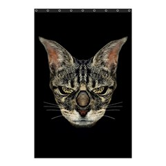 Angry Cyborg Cat Shower Curtain 48  X 72  (small)  by dflcprints