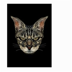 Angry Cyborg Cat Large Garden Flag (two Sides) by dflcprints
