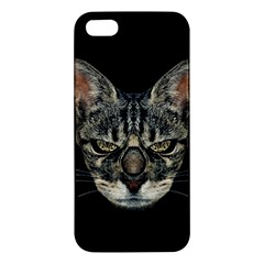 Angry Cyborg Cat Apple Iphone 5 Premium Hardshell Case by dflcprints
