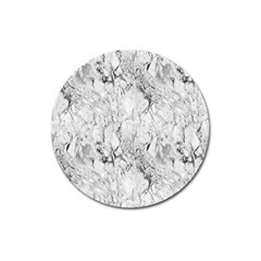 White Marble Magnet 3  (round) by ArgosPhotography
