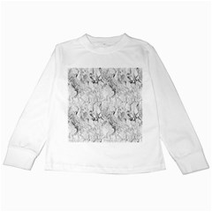 White Marble Kids Long Sleeve T-Shirts by ArgosPhotography