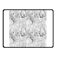 White Marble Double Sided Fleece Blanket (small)  by ArgosPhotography