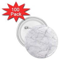 White Marble 2 1.75  Buttons (100 pack)  by ArgosPhotography
