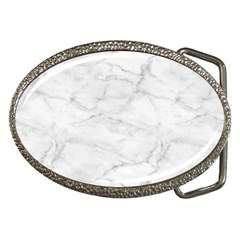 White Marble 2 Belt Buckles by ArgosPhotography