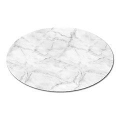 White Marble 2 Oval Magnet by ArgosPhotography