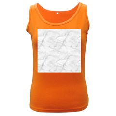 White Marble 2 Women s Dark Tank Tops by ArgosPhotography
