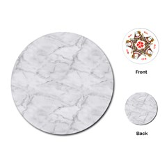 White Marble 2 Playing Cards (round)