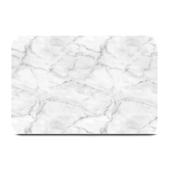 White Marble 2 Plate Mats by ArgosPhotography