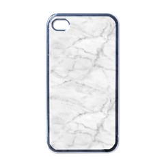 White Marble 2 Apple Iphone 4 Case (black) by ArgosPhotography