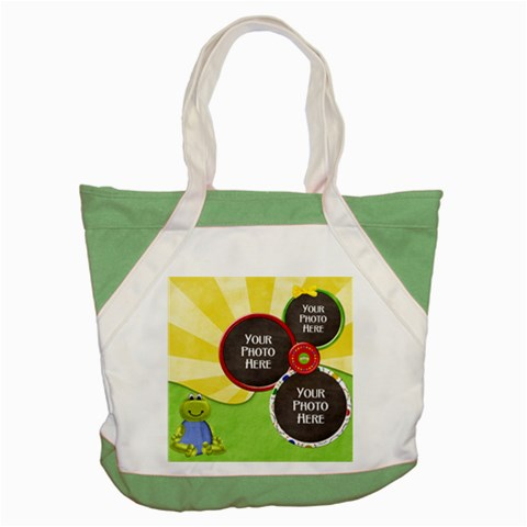 Lil Froggie Tote By Lisa Minor   Accent Tote Bag   P4qnac2wrgbz   Www Artscow Com Front