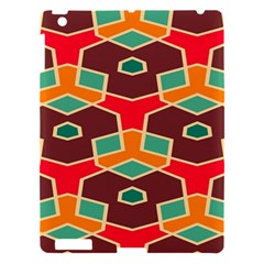Distorted Shapes In Retro Colors			apple Ipad 3/4 Hardshell Case by LalyLauraFLM