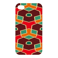 Distorted shapes in retro colors			Apple iPhone 4/4S Premium Hardshell Case