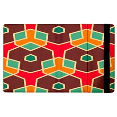 Distorted Shapes In Retro Colors			apple Ipad 2 Flip Case by LalyLauraFLM