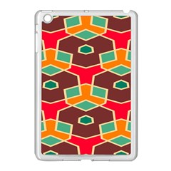 Distorted Shapes In Retro Colors			apple Ipad Mini Case (white) by LalyLauraFLM