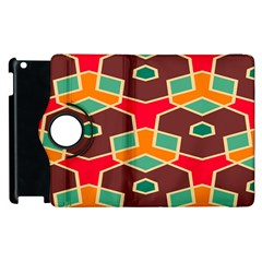 Distorted Shapes In Retro Colorsapple Ipad 2 Flip 360 Case by LalyLauraFLM