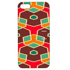 Distorted Shapes In Retro Colors			apple Iphone 5 Hardshell Case With Stand by LalyLauraFLM