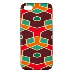 Distorted Shapes In Retro Colorsapple Iphone 5 Premium Hardshell Case by LalyLauraFLM