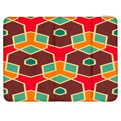Distorted Shapes In Retro Colors			samsung Galaxy Tab 7  P1000 Flip Case by LalyLauraFLM