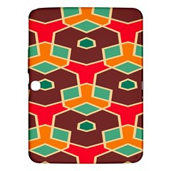 Distorted shapes in retro colorsSamsung Galaxy Tab 3 (10.1 ) P5200 Hardshell Case by LalyLauraFLM