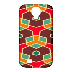 Distorted Shapes In Retro Colors			samsung Galaxy S4 Classic Hardshell Case (pc+silicone) by LalyLauraFLM